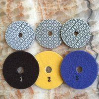 Wholesale Granite Wet Polishing Pads - Diamond wet Polishing Pads 4 inch 3 STEP for quartz Granite Stone Concrete