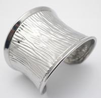 Wholesale Gift Flash Drive Bracelet - racelet usb flash drive 2017 New Fashion Silver Wide Punk 316L Stainless Steel Texture Cuff Bangle Bracelets For Women Costume Jewelry b...