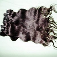 melhores extensões de cabelo humano ondulado venda por atacado-220 mais vendidos 5 / 6pcs lote 12 '' - 28