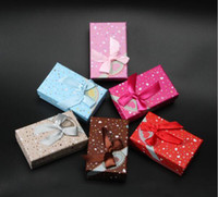 """Wholesale Heart Box Patterns - Bowknot Heart Pattern Jewelry Box Party Gift Boxes Packaging Display Accessories 5*8cm 1.97*3.15"""" G192"""