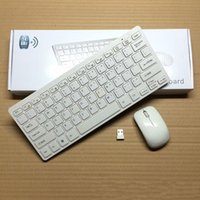 Wholesale hot sale black white G mini ultra thin wireless keyboard mouse set chocolate wireless keyboard mouse combos
