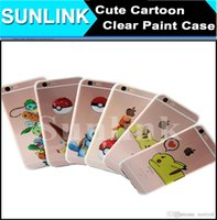 Wholesale Iphone Cases Pikachu - Hot Crystal Clear Poke Mon Go Pikachu Cute Cartoon Case Pocket Game Anime Shockproof Soft TPU Back Cover for iPhone 7 6 6s
