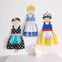 Wholesale Cinderella Snow New Cartoon - Ins 2017 Summer New Baby Girl Cartoon Dress Snow White Cinderella Alice Dots Princess Cosplay Dress Children Clothing 1-6T 71347