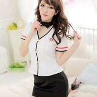 Wholesale Clothes Sex Dolls - Cosplay Sex Doll-Sexy Flight Attendant Cosplay Costume KTV Work Clothes Sexy Women Role Playing Uniform Temptation#wjt13