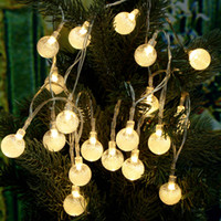 Star outside christmas trees - Led Outdoor String Lights M LEDs Crystal Ball Globe Fairy Strip Lights for Outside Garden Patio Party Christmas