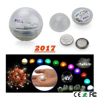 Wholesale Twinkle Lights Wedding Decoration - 50pcs Mini Twinkle LED night Light Battery Operated Berries 2CM Floating LED Ball fairy pearl For Wedding Party Events Decoration Light