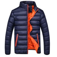 Wholesale Mens Casual Jackets For Spring - Wholesale- Winter Jacket Men 2016 New Spring Men's Cotton Blend Mens Jacket And Coats Casual Thick Fashion For Men Plus Clothing Male 4XL