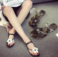 Wholesale Heels Retro White - New summer sandals Ladies Sweet Retro Floral Band Sling Shoes Slippers