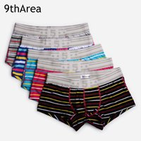 Wholesale Boxer Shorts Underpants - Hot-selling 2017 New Arrived Style Men's underwear Boxer shorts Hit Color with Strip Fashion design Cotton fabric Sexy Male underpants 2XL