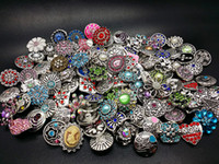 Wholesale assorted plate sets resale online - assorted antique silver mm ginger Snap charms DIY Buttons with CZ Rhinestone brand new mix designs