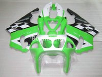 Wholesale 99 Zx7r Plastics - Hot sale plastic fairing kit for Kawasaki Ninja ZX7R 96 97 98 99 00-03 green white black fairings set ZX7R 1996-2003 TY08