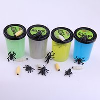 Luminous Clay Glue 4 Colores Scary Props Tricky Toys Pegamento ambientalmente Squishy Funny Toys Anti Stress Cool Gag Juguetes de Halloween OOA2191