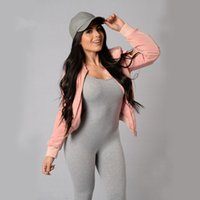 Wholesale Grey Jumpsuit Women Oblique Womens Bodysuit Long Sleeve Bodycon Pants Casual Sexy One Piece Outfits Overalls For Women