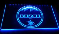 enseignes de bière au néon busch light achat en gros de-LD057-b-BUSCH-bière-Neon-Light-Sign Décor Livraison gratuite Dropshipping gros 6 couleurs à choisir