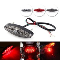 Wholesale Motorcycle Brake Kits - 12V 15 LED Motorcycle Brake Stop Running Tail Light Rear Light ATV Dirt Bike Universal Motocicleta Lights