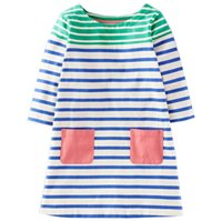 Wholesale Dress Horizontal Stripes - 2017 Girls Fall Cotton Horizontal stripes Dress Princess Dress Costume for Kids Clothes Tunic Appliques Girls Jersey Dresses