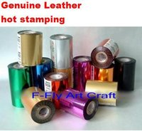 Wholesale Hot Stamping Foil Paper - Wholesale- Foils Different Color for Choice Hot Stamping Paper Genuine Leather Hot Stamping 120 Meters Width Can Be Customerized