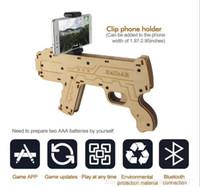 porttil de madera de bluetooth juego de disparos pistola de juguete diy ar pistola para vr juegos para todos los android ios telfono inteligente