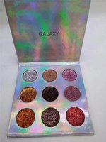 Wholesale sell eye shadow palettes resale online - New hot selling ROMANTICFOX Palette Eyeshadow Galaxy colors Glitter Eye shadow Pro Eyes Makeup Cosmetics