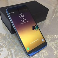 Wholesale Cell Network Android - Metal Frame Goophone s8 plus 5.7inch Cell Phones 1G ram 8G rom Quad Core MTK6580 show fake 4G LTE 128G 3G Network GPS WIFI