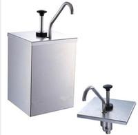 würze spender großhandel-1 Eimersauce Dispenser Pump Squeeze Condiment Dispensing Edelstahl
