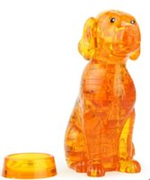 Wholesale Clear 3d Puzzles - Wholesale- New Dog Crystal Puzzle 3D Animal Jigsaw Toys Yellow Clear Puppy DIY Puzzles Toy For Kids Or Adults Children's Educational Toys