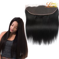 Wholesale Virgin Cambodian Lace Closure - Lace Frontal Closure Ear To Ear 13x4Size Peruvian Straight Frontal Malaysian Indian Brazilian Cambodian Virgin Human Hair Top Lace Frontal