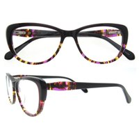 Wholesale Eyeglasses Frames Geek - New Men Women Acetate Glasses Oval Optical Eyeglasses Mypia Spectacles Prescription Eyewear Full Rim Fashion Glasses B04327