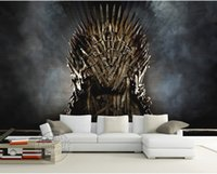 Compra Giochi Personalizzati-Game of Thrones Carta da parati Iron Throne Wall Murals Foto personalizzata Wallpaper Camera dei bambini Silk Wall Art Room decor Camera Art Home
