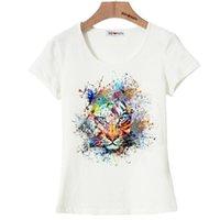 Wholesale King Bell - Wholesale- BGtomato artwork colorful king lion t shirt women super cool summer shirts 100% positive feedback good quality soft t shirts