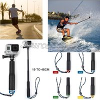 Wholesale camera selfie pole for sale - Group buy 95cm Colors Waterproof Monopod Selfie Stick Pole Handheld For Gopro Hero Camera cm retail package