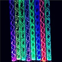 Wholesale Christmas Ornaments Light Colors - Led Stick 7 Colors Changing 26CM Acrylic LED Glowing Sticks Light Up Toys Bachelorette Party Christmas Party Ornament YH306