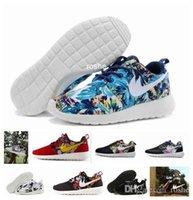 Wholesale Sunset Sea - Cheap Run Running Shoes For Women & Men, Lightweight Run Sea Blue Sunset Sky Palm Tree Print Flower Sneakers Eur 36-45