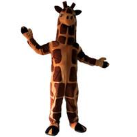 Wholesale Giraffe Mascots - giraffe Mascot cartoon Halloween dress Custom clothing High quality Carnival costumes