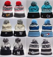 Wholesale Dodger Beanies - MLB Los Angeles Dodgers Winter Beanie Hats for Men women New York LA Dodgers Knitted Beanie Wool Hat Man Bonnet Gorro Warm Cap