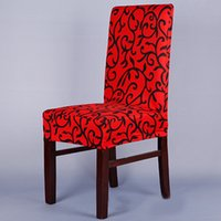 Wholesale Spandex Stretch Chair - Stretch Chair Cover Printed Dining Chair Cover Spandex Slipcover for Banquet Home Restaurant JC0275 Drop Shipping