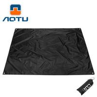 Wholesale Foam Sleep Mat - AOTU Gear Ultralight Tarp Lightweight MINI Sun Shelter Awning Camping Mat Tent Footprint 210T Oxford 210*150cm 186