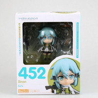 Wholesale Bullet Action - Cute Nendoroid 452 Sword Art Online II Sinon Phantom Bullet SAO GGO 10cm PVC Action Figure Toys Gift New in Box