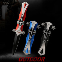 Wholesale Wholesale Military Tools - Cross Defender Tactical Folding Knife Fast Open 56HRC Camping Hunting Survival Pocket Knife Military Utility EDC Tools Survival 3004018