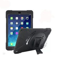 Wholesale Silicone Case For Kindle - Kickstand Armor Case Eco-friendly PC Silicone Cover Case for iPad 2 3 4 5 6 air 1 2 iPad mini 3 4 Samsung Tablet PC OPP Bag