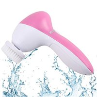 Wholesale Wholesale Iron Legs - Sonic Cleansing brush 5-in-1 electric Face Brush Bright Therapy Skin Care System Face Care Massager Waterproof