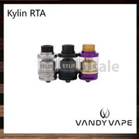 Wholesale Drip Coil Atomizer - Vandy Vape Kylin RTA 2ml   6ml Tank Plethora of Airflow Holes Both Single and Dual Coil Atomizer Wide Bore Drip Tip 100% Original
