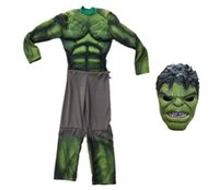 others stage themes - Avengers Hulk Costumes with Mask Set Halloween Carnival Party Cosplay Theme Costume Baby Children Boys Clothing