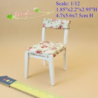 Wholesale 1 Scale Dollhouse Miniature Furnitures Vanity Chair Bedroom decor Doll house mini furnitures accessory Room Decor QQ_dollhouse Toy Gift