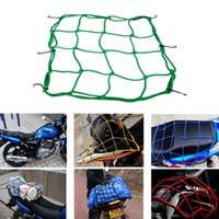 precio de cascos al por mayor-El casco del tanque del cargo del equipaje de la motocicleta ata la red del amortiguador auxiliar para el precio de ganga de la bici ATV del motor