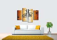 Wholesale Texture Oil Art Paint - Wall art Household goods painting Manual Arts Composition of 4 paintings Thick bottom texture Home decoration Hot art Arts and New pattern