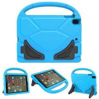 Wholesale Kindle Fire Hd Covers - Children Handle Cover EVA Shockproof Stand Holder Kids Case for new iPad 2 3 4 5 6 mini 2 3 4 2017 fire 7 HD 8 Samsung TAB E T110 T113 2016