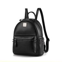 Wholesale Cortex Dress - Women Brand Retro Shoulder Bag Female College Student Satchel Small Cortex Casual Backpack Ladies Classic Strap Solid Tote