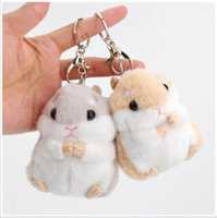 Wholesale Toy Hamster Voice - European and American hot style recommendation Keychains boss recommends a cute hamster stuffed doll with a toy key chain