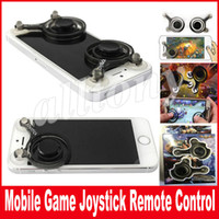 Wholesale Transparent Sucker - Creative Game Joysticks Dual Stick Control Handle Mobile Joystick Transparent Screen Sucker Rocker For Smartphone Cellphone Pad